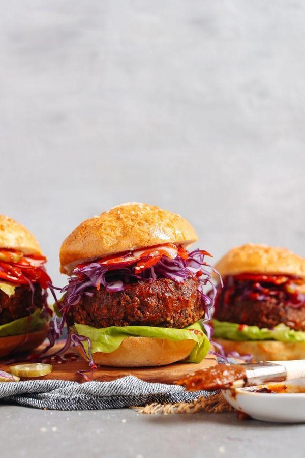 "<strong>Get the<a href=""https://minimalistbaker.com/smoky-bbq-black-bean-burger/"" target=""_blank""> Smoky BBQ Black Bean Burge"
