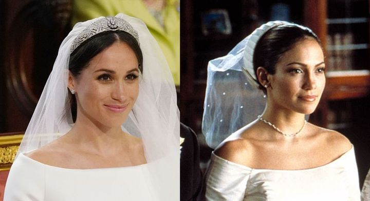 "Meghan Markle may have taken some style inspiration from Jennifer Lopez in ""The Wedding Planner."""