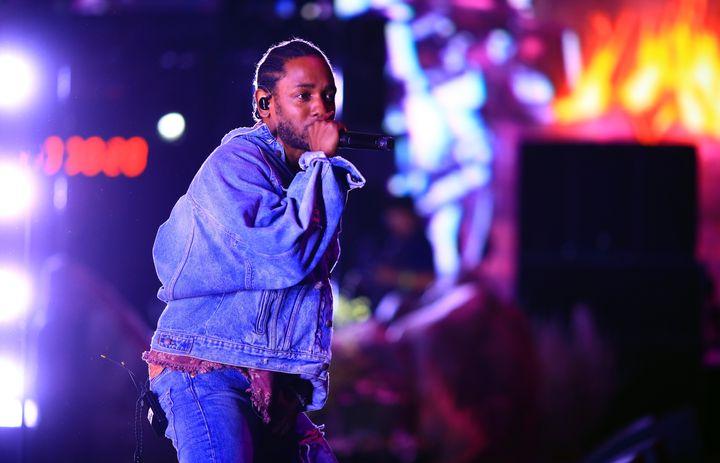 Kendrick Lamar performing at Coachella inIndio, California, in April.