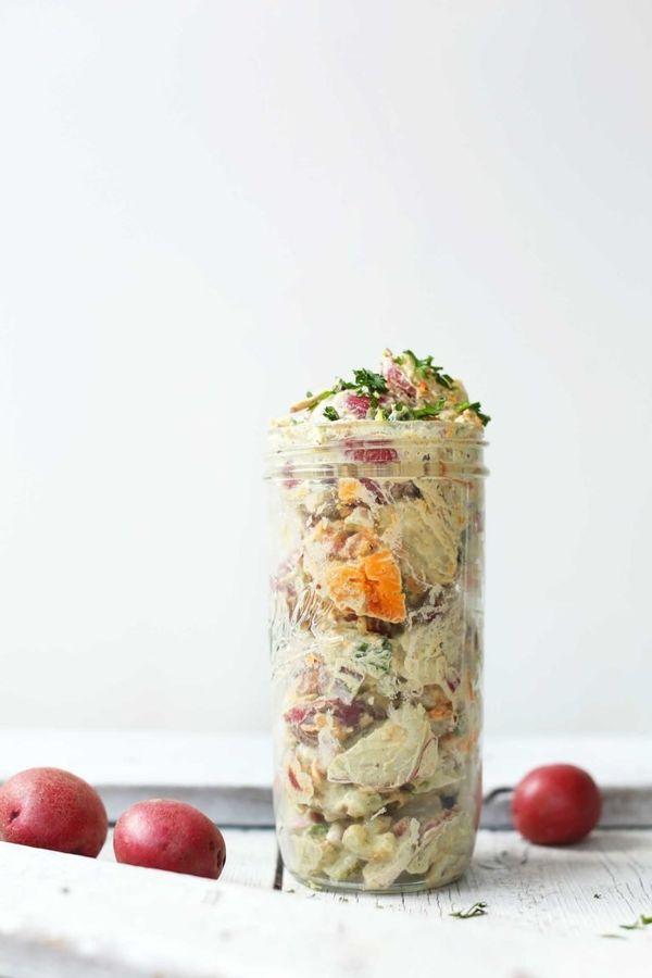 "<strong>Get the <a href=""https://minimalistbaker.com/simple-vegan-potato-salad/"" target=""_blank"">Simple Vegan Potato Salad</a"