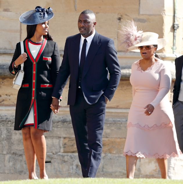 Guests at Prince Harry's wedding included Oprah Winfrey (right), Idris Elba and his fiancée Sabrina