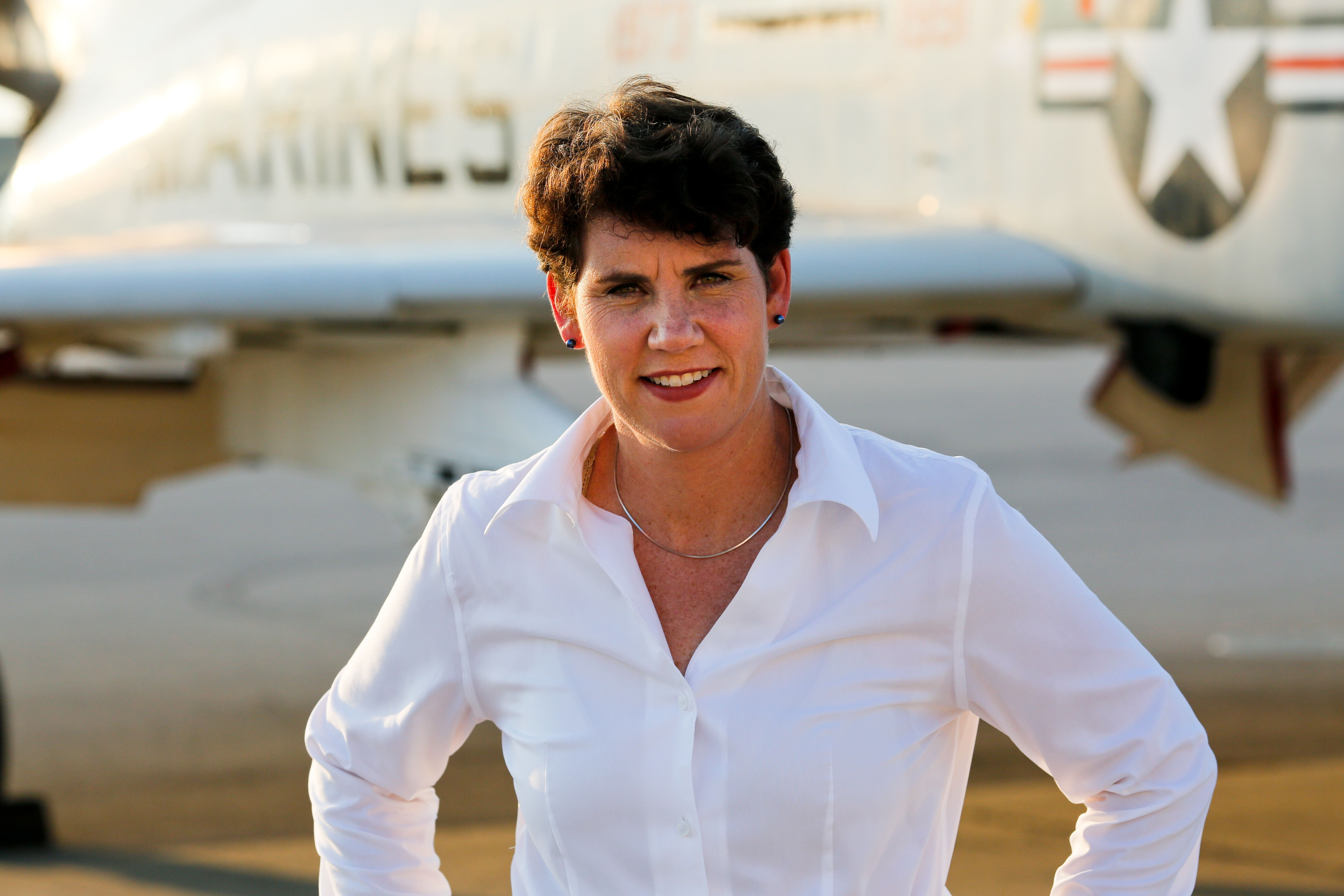Retired Marine fighter pilot Amy McGrath trailed her Democratic primary opponent by 40 points in December. But her own intern