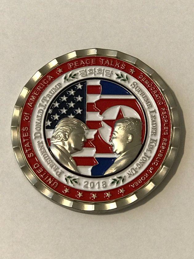 백악관은 이미 북미정상회담 기념주화를