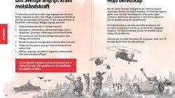 Millionen Broschüren: Schweden bereitet Bevölkerung auf Kriegsfall vor – das steckt