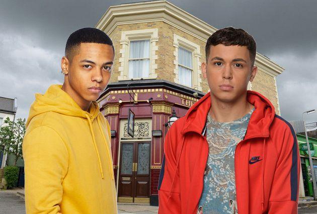 Keegan and Shakil in 'EastEnders'