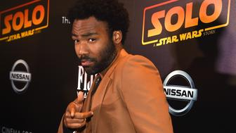 NEW YORK, NY - MAY 21:  Donald Glover  attends 'Solo: A Star Wars Story' New York Premiere on May 21, 2018 in New York City.  (Photo by Jamie McCarthy/Getty Images)