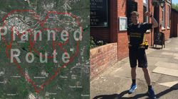This Runner Is Creating A 63-Mile Heart Around Manchester To Commemorate The
