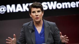 Amy McGrath, former U.S. Marine and Democratic congressional candidate for Kentucky, speaks during the 2018 MAKERS Conference in Hollywood, California, U.S., on Tuesday, Feb. 6, 2018. The event gathers industry leading females for roundtable discussions to help inspire the women of tomorrow. Photographer: Patrick T. Fallon/Bloomberg via Getty Images