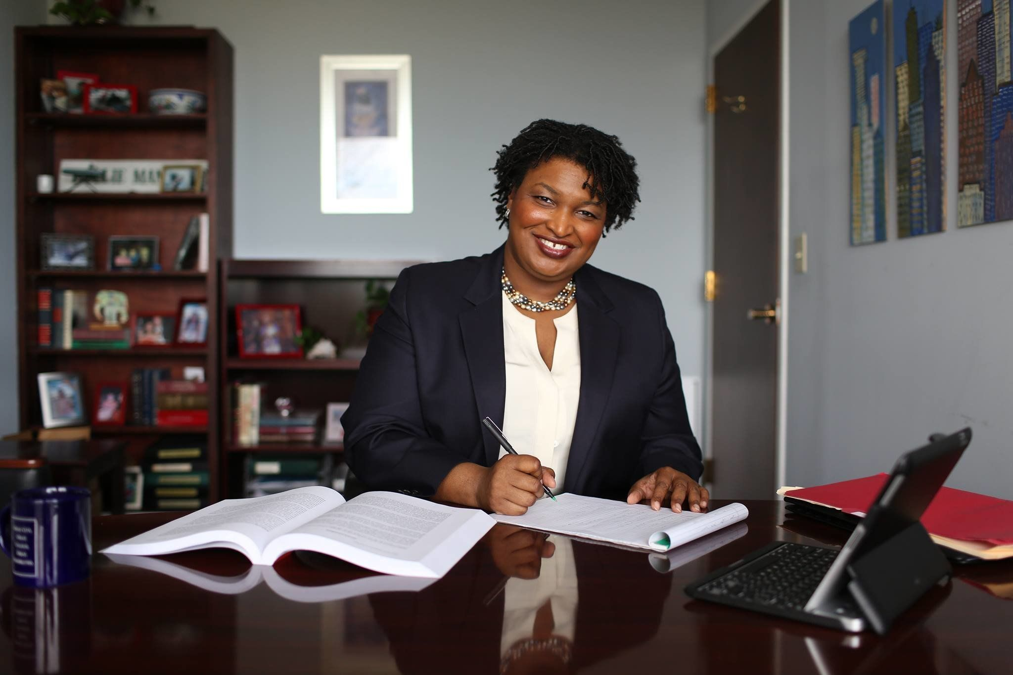 Former Georgia House Democratic Leader Stacey Abrams won the Democratic nomination for governor of Georgia
