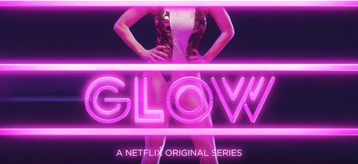 "A particularly unique font for the Netflix show, ""Glow."""