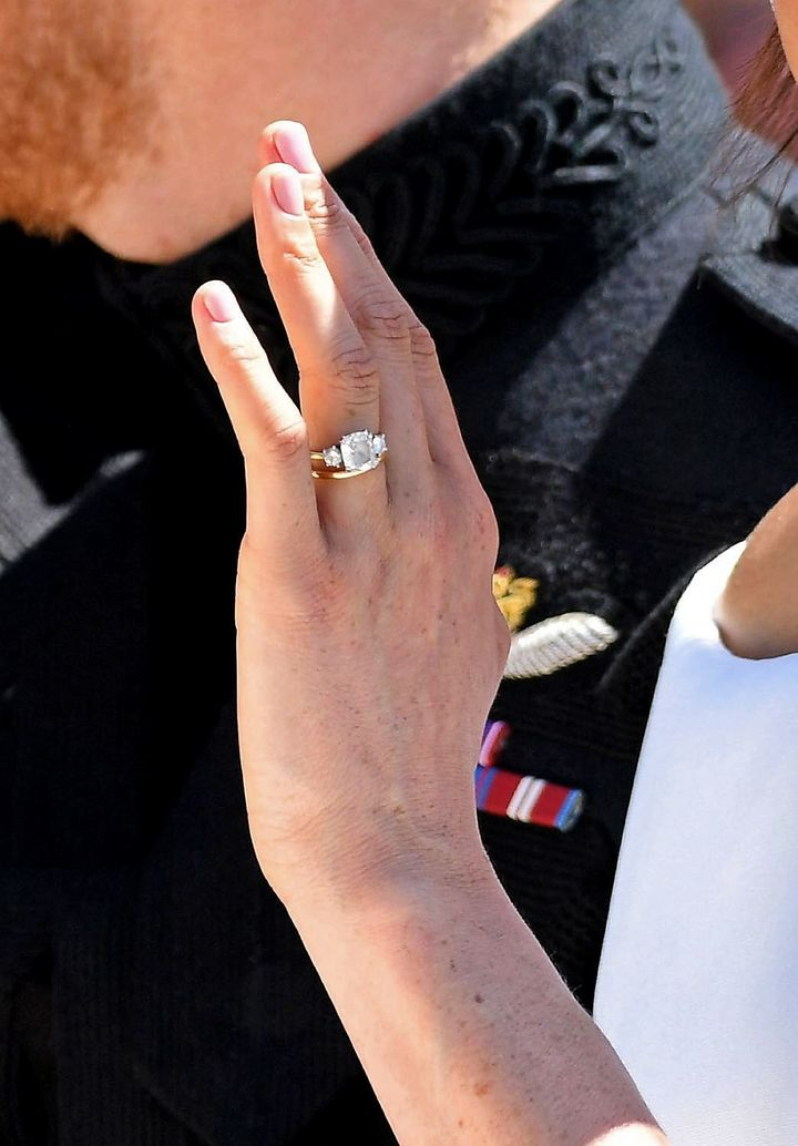 A closer look at Markle's wedding nails.