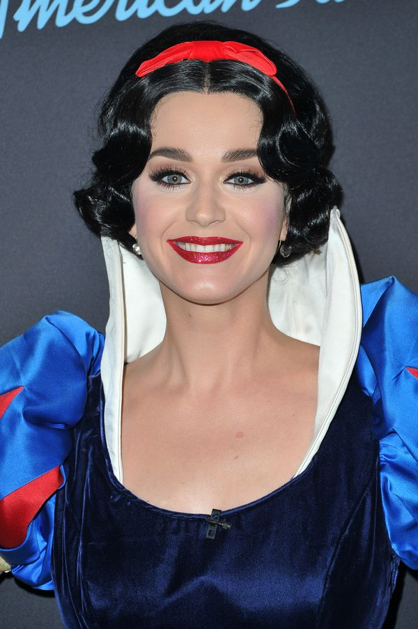 "Perry in her Snow White garb for the Disney-themed week on ""Idol."""