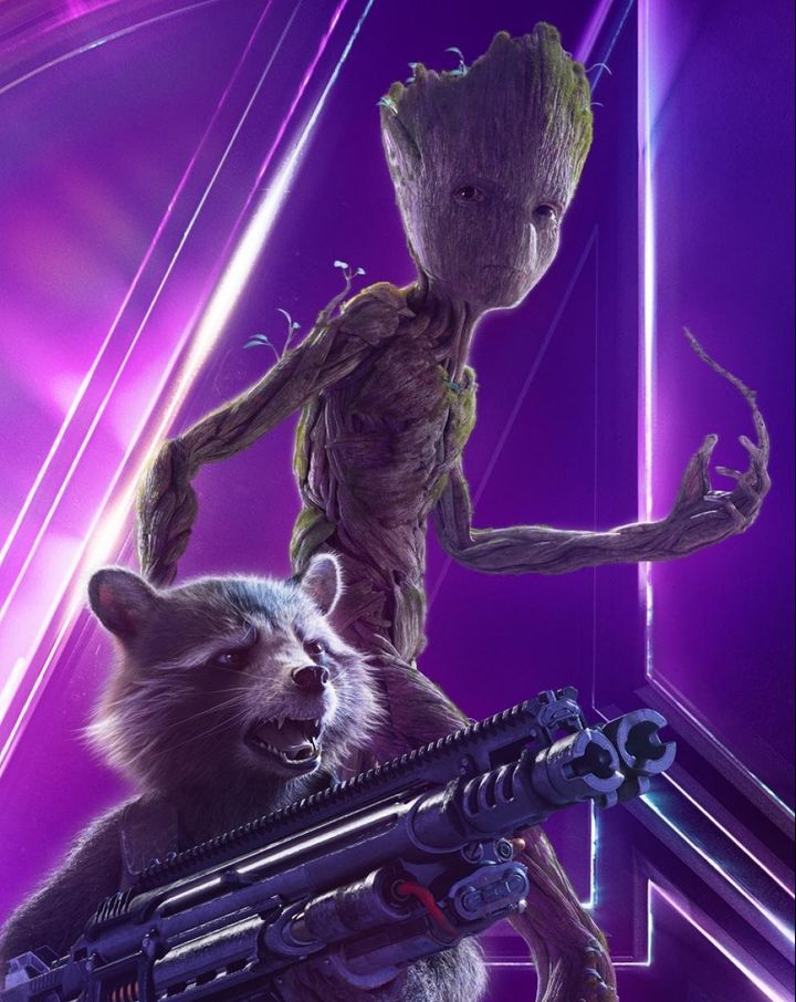 """Rocket and Groot poster for """"Avengers: Infinity War."""""""