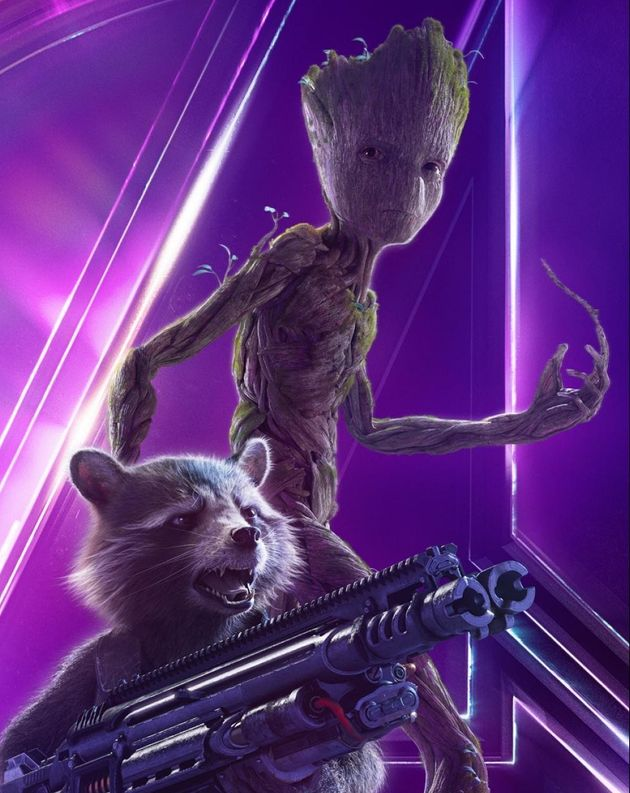 Rocket and Grootposter for