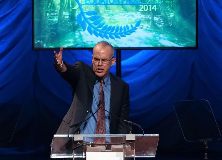 Environmentalist Bill McKibben speaks during a United Nations Equator Prize Gala in 2014 in New York City.