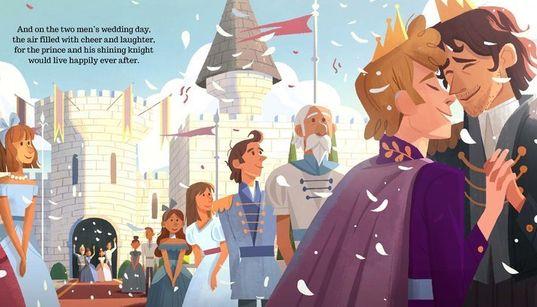 그림책 '왕자와 기사'는 전통적 동화를 비틀어 게이를
