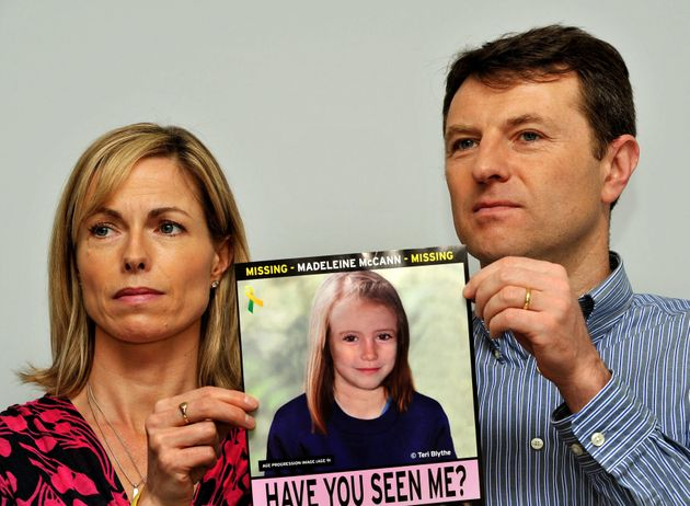 Gerry and Kate McCann the parents of missing Madeleine McCann who vanished in Portugal pose with a composition...