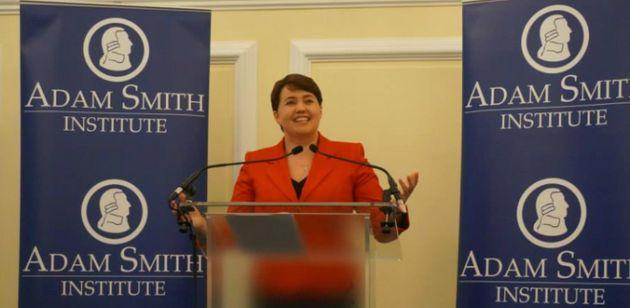 Ruth Davidson speaking at the Adam Smith Institute in