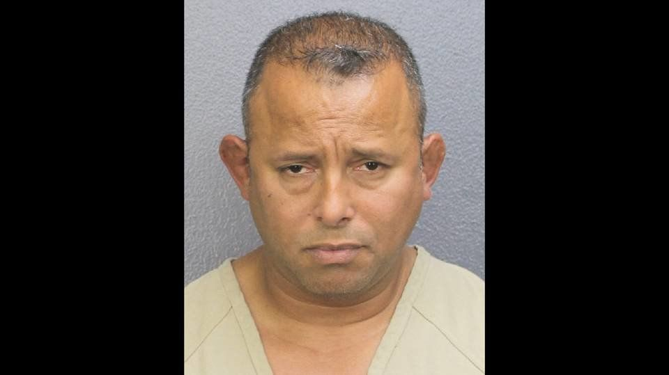 Henry Guzman, 44, was arrested Monday for shoplifting in Lauderdale Lakes, Florida.