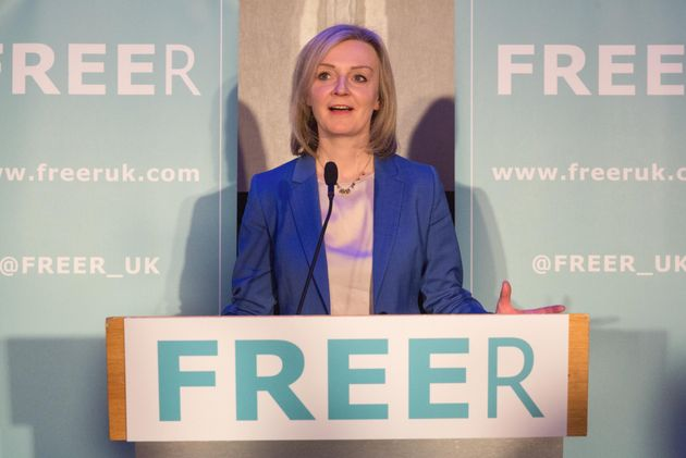 Liz Truss speaking at the launch of Freer in