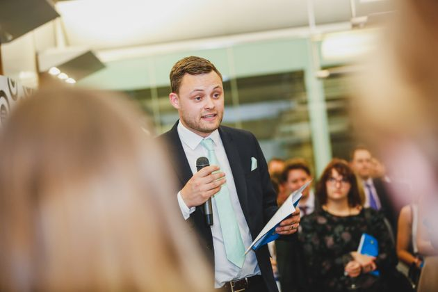 Tory MP Ben Bradley speaks at the launch of a new pamphlet from the Centre for Policy