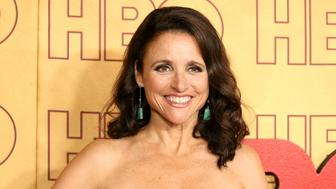 LOS ANGELES, CA - SEPTEMBER 17:  Julia Louis-Dreyfus attends HBO's Post Emmy Awards reception held at The Plaza at the Pacific Design Center on September 17, 2017 in Los Angeles, California.  (Photo by Michael Tran/FilmMagic)