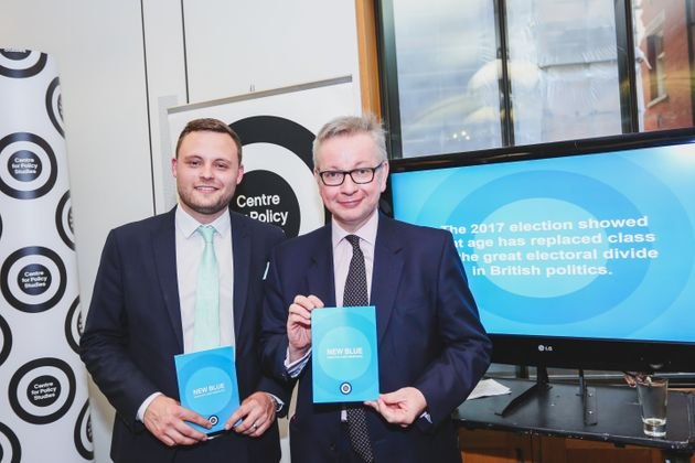 Tory MPs Ben Bradley and Michael Gove at the launch of'New Blue: Ideas For A New