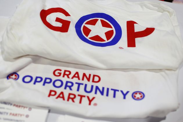 A Republican Party shirt is on display at the Conservative Political Action Conference at National Harbor,...