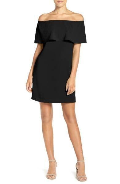 """Was: $88.00<br><a href=""""https://shop.nordstrom.com/s/charles-henry-off-the-shoulder-dress-regular-petite/4396305?origin=categ"""