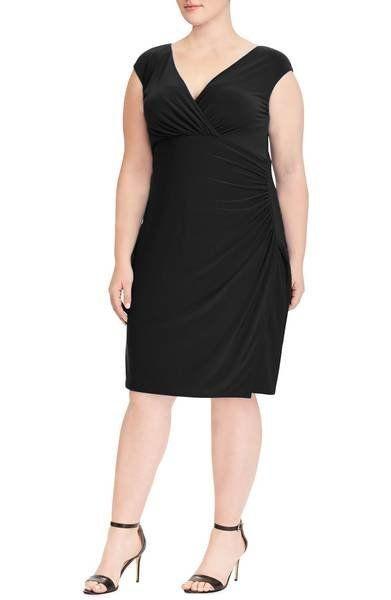 "Was: $119.00<br><a href=""https://shop.nordstrom.com/s/lauren-ralph-lauren-adara-sheath-dress-plus-size/4901544?origin=categor"