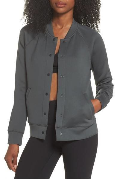 """Was: $119.00<br><strong><a href=""""https://shop.nordstrom.com/s/zella-arise-luxe-bomber-jacket/4698496?origin=category-personal"""