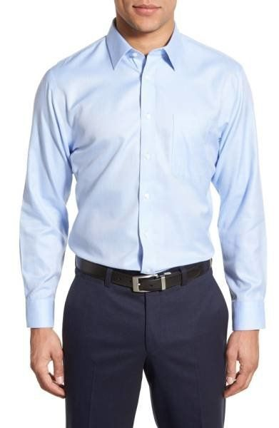 "Was: $69.50<br><a href=""https://shop.nordstrom.com/s/nordstrom-mens-shop-smartcare-trim-fit-herringbone-dress-shirt/4066374?o"