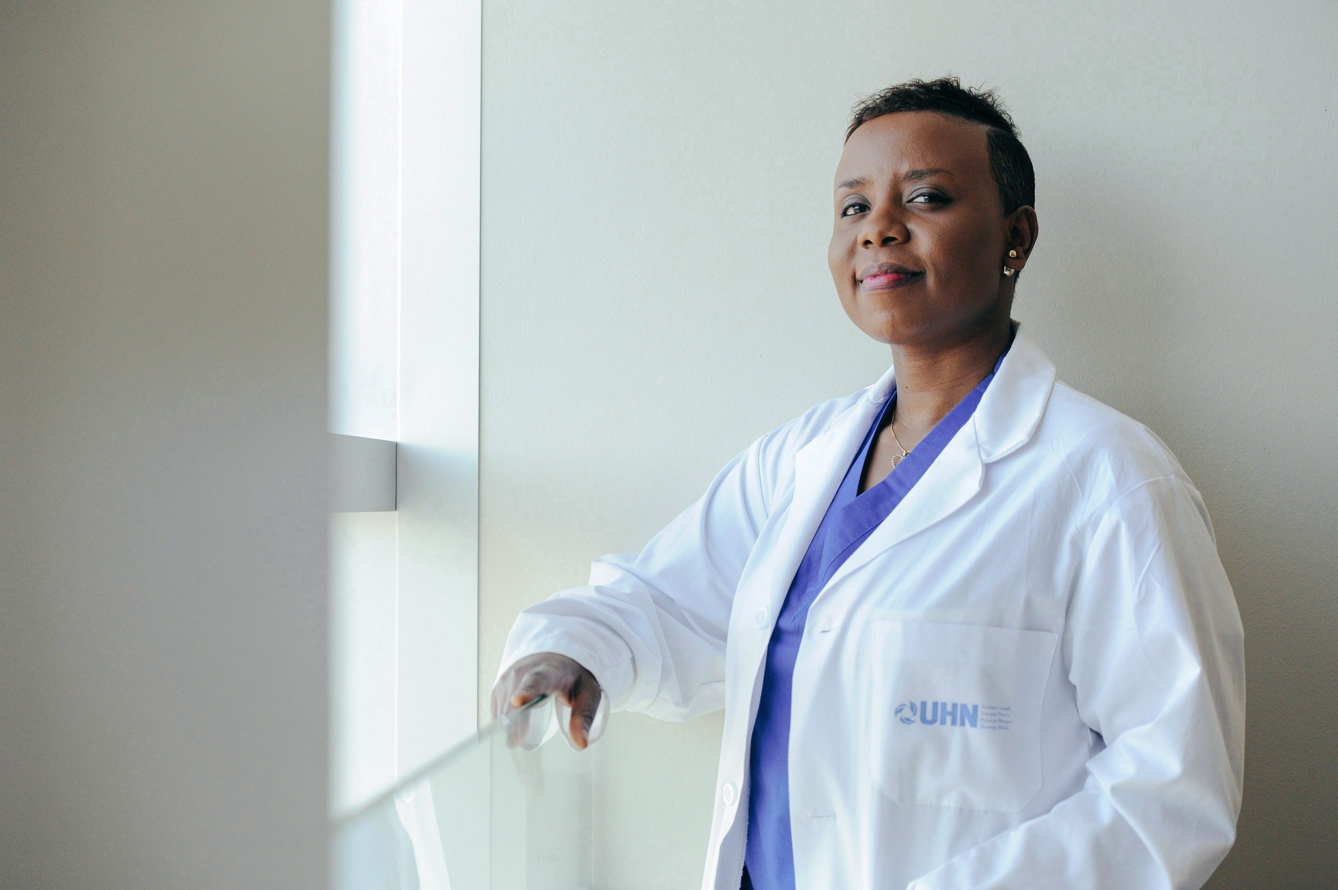 Claire Karekezi is shown at Toronto Western Hospital on Tuesday, May 8, 2018. In early July, the 35-year-old will return home as the first and only female neurosurgeon in Rwanda after completing her training in Toronto, where she has spent the last year honing her skills in neuro-oncology and skull base surgery, specializing in the removal of brain tumours. THE CANADIAN PRESS/Galit Rodan