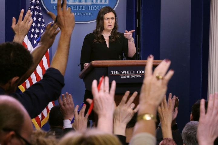 Look at all the reporters' hands in the air. Why can't they get factually correct answers?