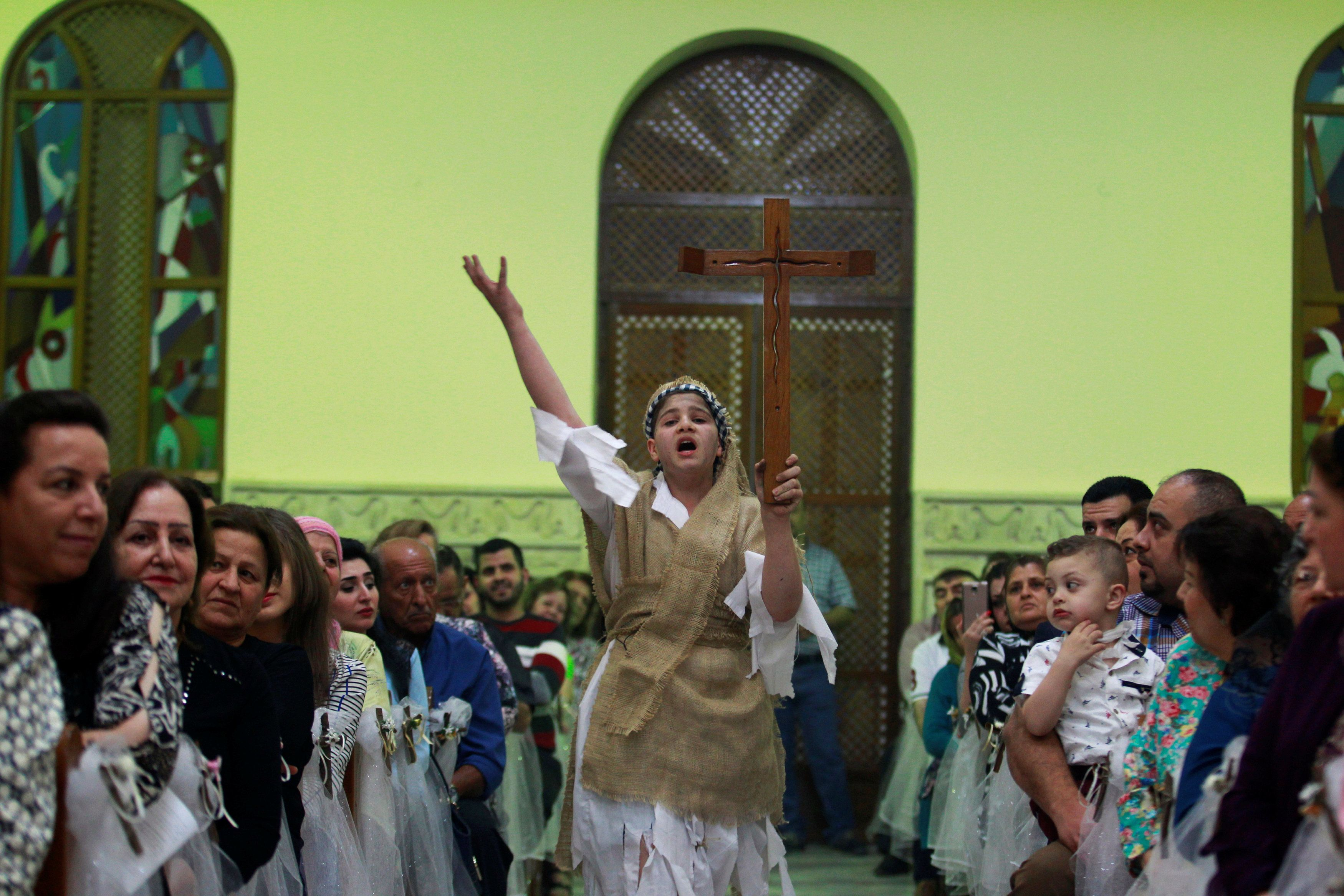 An Easter celebration in Baghdad last year. Candidates from the Babylon Brigade won two of the five seats reserved