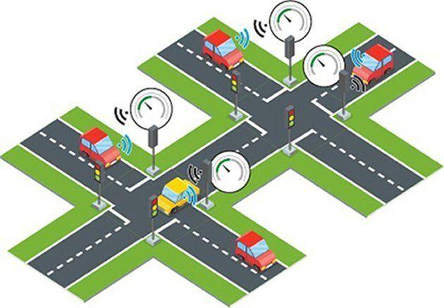 스마트 신호등은 해로운 자동차 배기가스를 크게 줄일 수