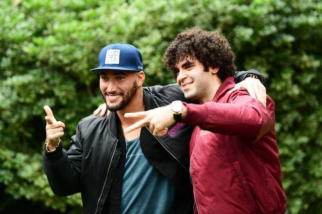 Bilall Fallah et Adil El Arbi lors de la remise des prix, par le magazine Variety, des dix réalisateurs...
