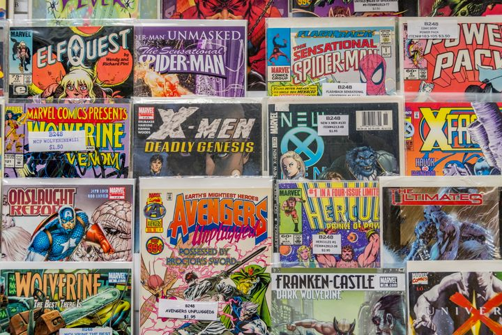 One of our readers suggested stocking up on comic books, seen here at a flea market, before a long drive.