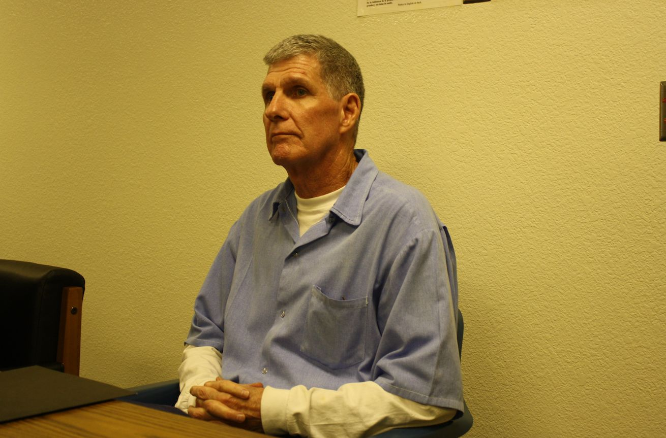 Lis Wiehl's candid photo of Tex Watson taken during his parole hearing Northern California's Mule Creek maxim