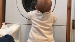 Mann schleudert Baby in Waschmaschine – seine Verteidigung ist widerlich