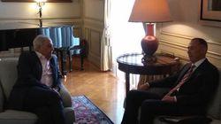Συνάντηση Φλαμπουράρη με τον πρέσβη της Ρωσίας Μάσλοβ στο Μέγαρο