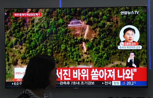 정부가 북한의 풍계리 핵실험장 폐기를