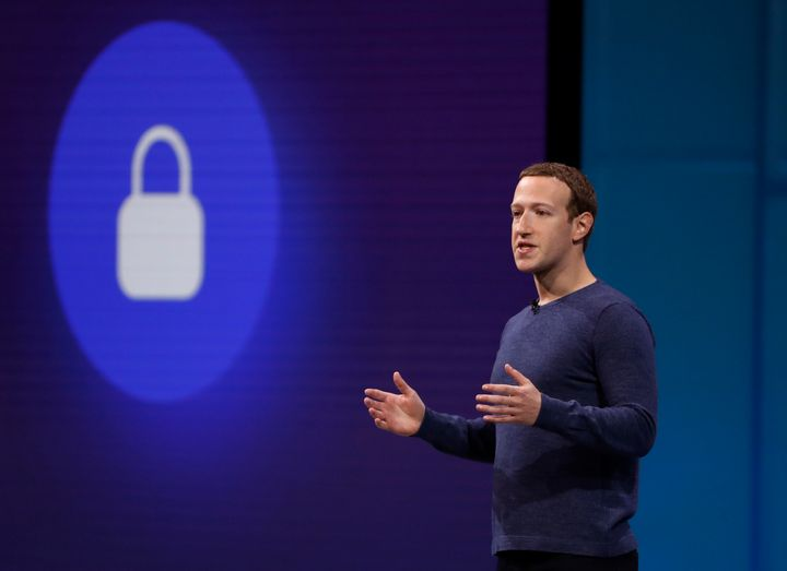 Facebook CEO Mark Zuckerberg speaks at the company's annual developers' conference on May 1.