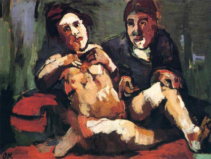 "Oskar Kokoschka's ""Self-Portrait with Doll,""1922. Oil on canvas."