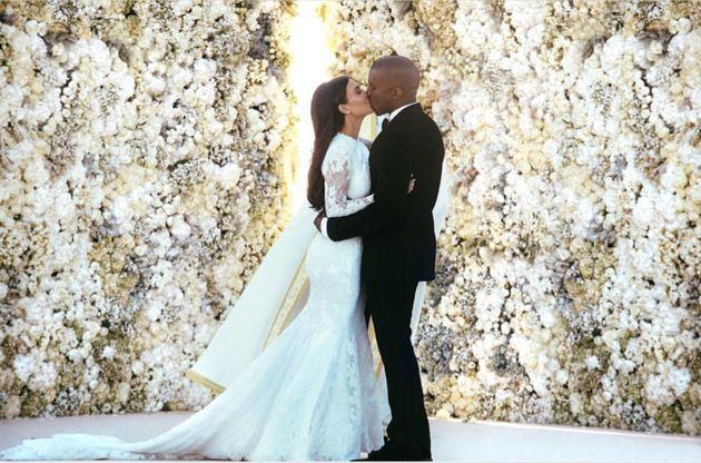 Kim Kardashian Wished Kanye West A Happy Anniversary And, Fine, It's Pretty