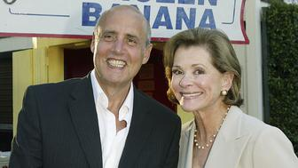 LOS ANGELES, CA - AUGUST 13:  Actors Jeffrey Tambor (L) and Jessica Walter pose at a cocktail party and script reading for FOX-TV's 'Arrested Development' at the Wadsworth Theater on August 13, 2004 in Los Angeles, California.  (Photo by Kevin Winter/Getty Images)