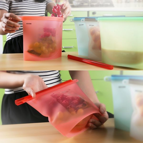 Ditch plastic bags for these reusable alternatives. They're dishwasher, refrigerator, freezer and microwave save. Get them <a