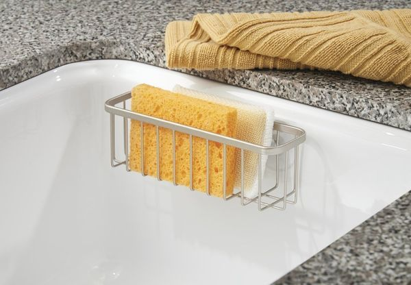 Extend the life of your sponges by keeping them out of your dirty sink. This suction sponge holder will keep your clean spong
