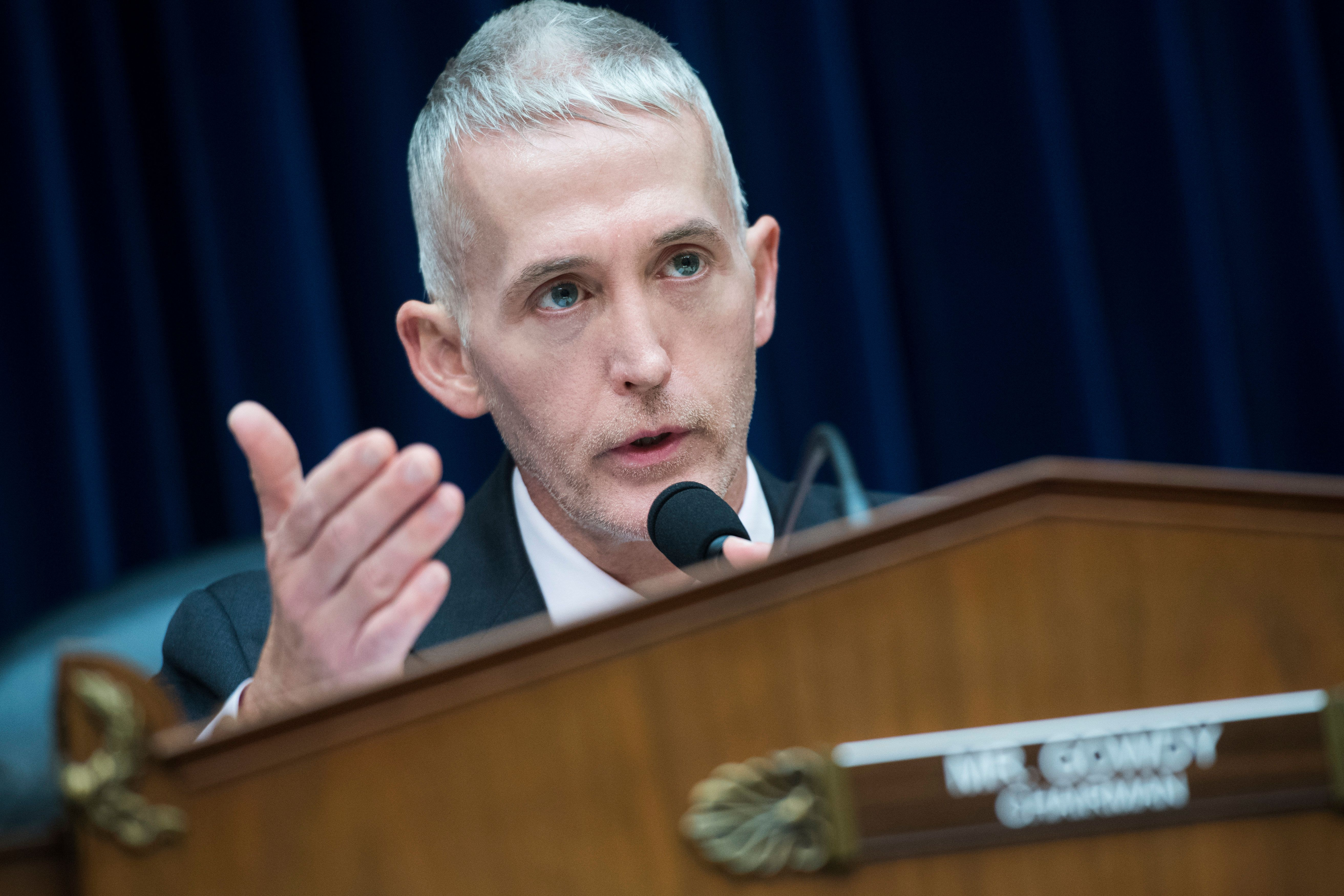 UNITED STATES - MAY 17: Chairman Trey Gowdy, R-S.C., conducts a House Oversight and Government Reform Committee hearing titled 'A Sustainable Solution to the Evolving Opioid Crisis: Revitalizing the Office of National Drug Control Policy,' in Rayburn Building on May 17, 2018. (Photo By Tom Williams/CQ Roll Call)