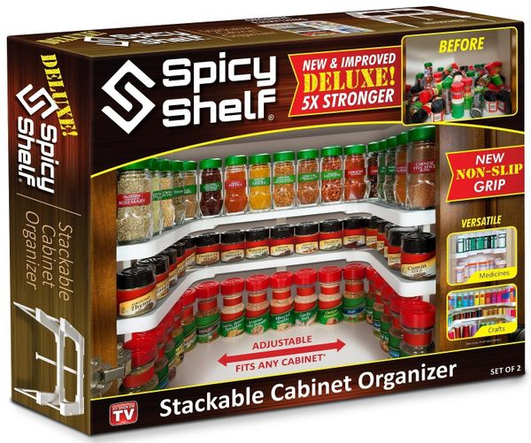 The Spicy Shelf spice rack is perhaps one of the most innovative and useful spice storage solutions out there. It creates two